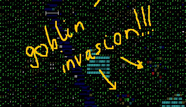 Dwarf Fortress - The real game doesn't come with the handy MS Paint annotations...