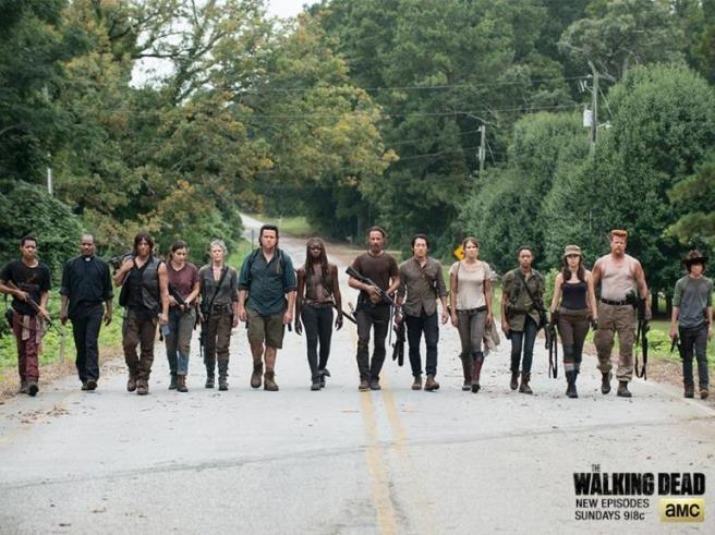 Rick Grimes group in The Walking Dead